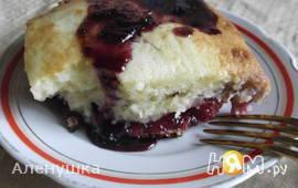 Сладкий заливной пирог