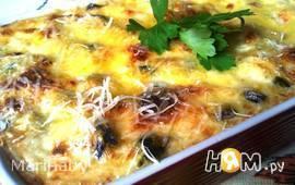 Мидии в сырно-сливочном соусе