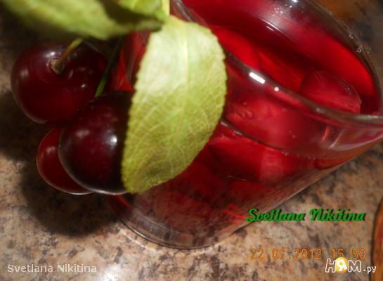Рецепт Вишневый компот/ на зиму