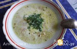 Суп картофельный с луком пореем