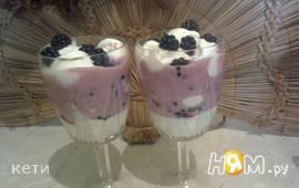 Десерт «Ежевичное наслаждение»