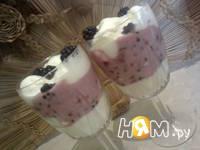 Приготовление десерта Ежевичное наслаждение: шаг 6