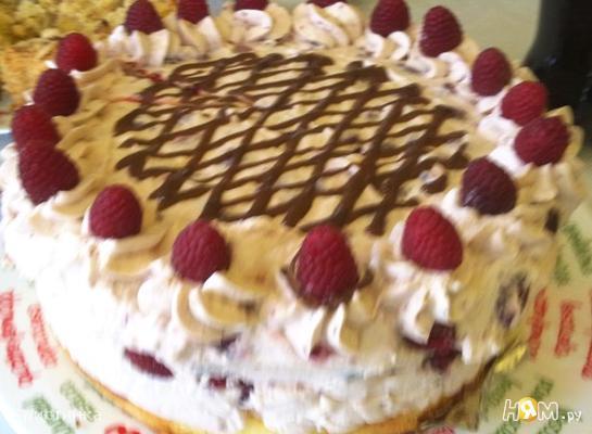 """Торт """"Воздушный"""" с малиной"""