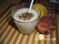 Приготовление молочно-персикового коктейля: шаг 3