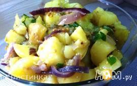 Теплый салат с молодым картофелем