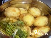 Приготовление теплого салата с молодым картофелем: шаг 1
