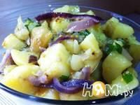 Приготовление теплого салата с молодым картофелем: шаг 5