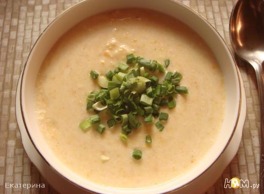 Суп-пюре с креветками и картофелем