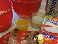 Приготовление творожного торта с апельсинами: шаг 4