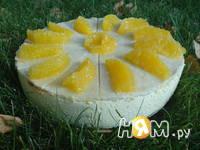 Приготовление творожного торта с апельсинами: шаг 18