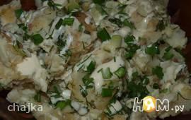 Картофель молодой со сметаной и зеленью