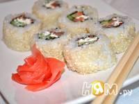 Приготовление урамаки суши Филадельфия: шаг 14