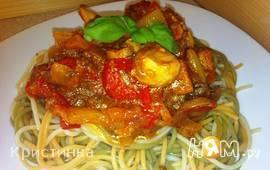 "Спагетти ""Триколор"" с соусом"