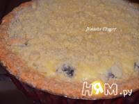 Приготовление пирога с творогом и черникой: шаг 9