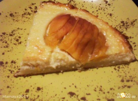 Твороженик с персиками