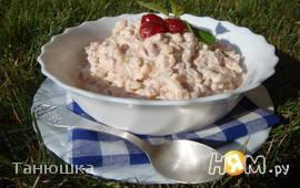 Ванильный рисовый пудинг с вишнями