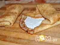 Приготовление блинов с творожным кремом под соусом: шаг 7