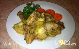 Курица с артишоками в лимонном соусе