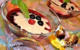 Ягодный десерт с йогуртом