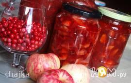 Варенье из яблок  с брусникой (два варианта)