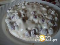 Приготовление торта с творожно-малиновой начинкой: шаг 8