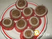 Приготовление закуски из помидор по-грузински: шаг 4