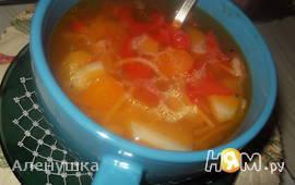 """Суп """" Рыжик """" с жареной вермишелью"""