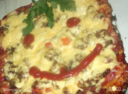 Рецепт Пицца на слоеном тесте