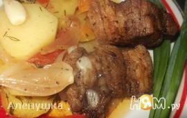 Жаркое с овощным рагу
