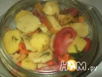 Приготовление жаркого с овощным рагу: шаг 6