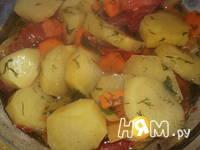 Приготовление жаркого с овощным рагу: шаг 7
