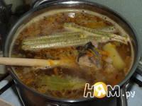 Приготовление супа из консервированной сайры: шаг 5