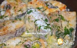 Пикша в сметанном соусе