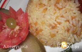 Острый рис с вялеными помидорами