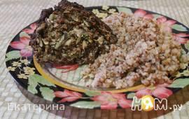 Мясной рулет с яйцами и грибами