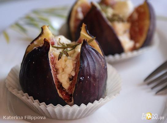 Рецепт Инжир, запеченный с фетой и медом