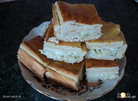 Мини-пирог с капустой