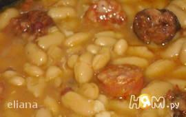 Фасоль с колбасками Чоризо(Фабада астуриана)
