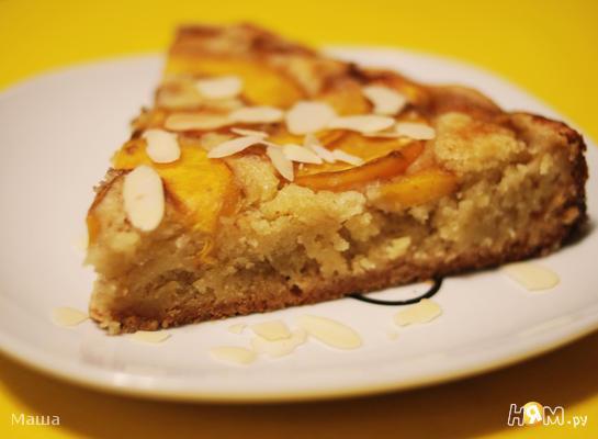 Рецепт Миндальный пирог с нектаринами
