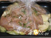 Приготовление куриного филе с яблоками и тархуном: шаг 6