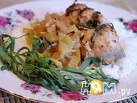 Приготовление куриного филе с яблоками и тархуном: шаг 7