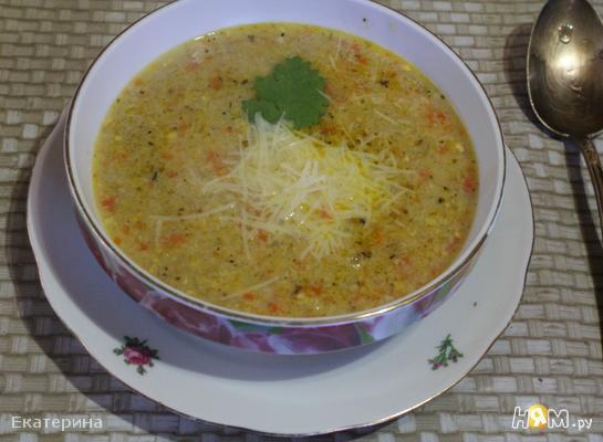 Крем-суп из кукурузы с курицей