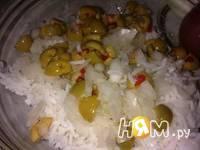 Приготовление простого салата с кукурузой: шаг 3