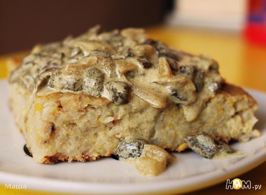 Рецепт Овощная запеканка с грибной подливой