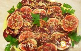 Салат из свеклы с инжиром