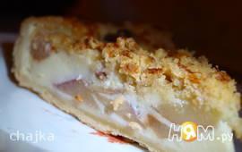 Персиковый сливочный пирог