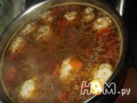 Приготовление супа с фрикадельками и овощами: шаг 6