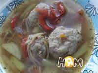 Приготовление супа с фрикадельками и овощами: шаг 7
