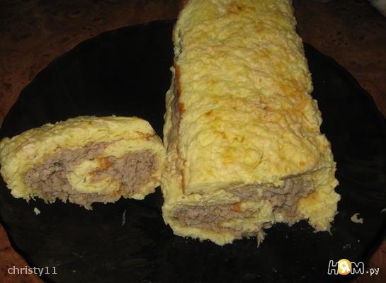 Рецепт Яично-мясной рулет