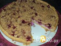 Приготовление тарта с творогом и малиной: шаг 15